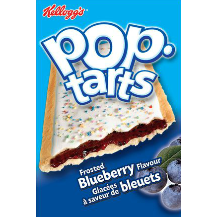 Kellogs Pop-Tarts, Frosted Blueberry, [HFX]
