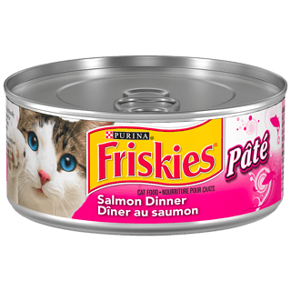 Purina Friskies Pate Cat Food, Salmon Dinner
