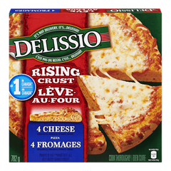 Delissio Rising Crust Frozen Pizza, 4 Cheese, 782g, [HFX]