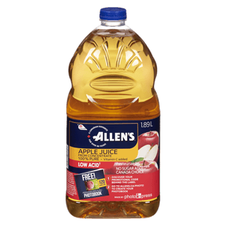 Allen's Apple Juice, 1.89L