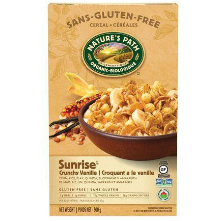 Nature's Path Gluten-Free Cereal, Sunrise Crunchy Vanilla, 300g, [HFX]