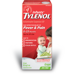 Infants' Tylenol, Grape, Age 0-23 Months, 24ml, [HFX]