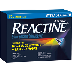 Reactine, Extra Strength Allergy Relief, 10 Tablets, 10mg