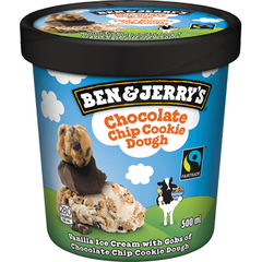 Ben & Jerry's Ice Cream, Chocolate Chip Cookie Dough, 500ml, [HFX]