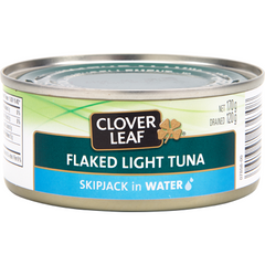 Clover Leaf, Flaked Light Tuna, Skipjack in Water, 170g [HFX]