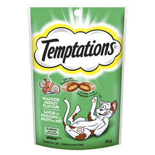 Whiskas Temptations Cat Treats, Seafood Medley