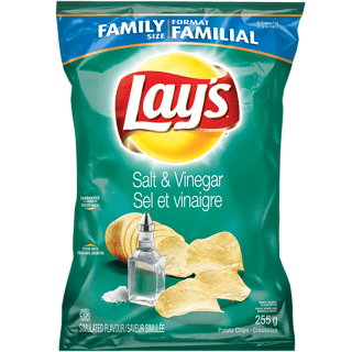 Lays, Salt & Vinegar, 255g, [HFX]