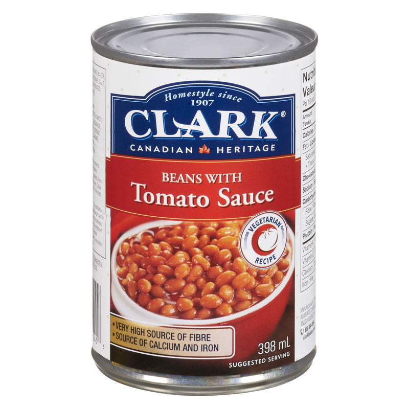 Clark, Beans with Tomato Sauce, 398ml