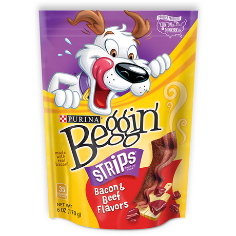 Purina Beggin' Strips Bacon and Beef Flavours, 170g