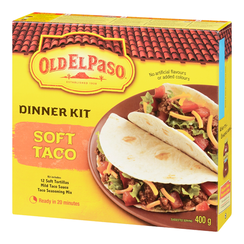 Old El Paso Dinner Kit with Tortillas, Seasoning & Sauce, Soft Taco