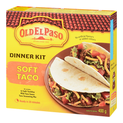 Old El Paso Dinner Kit with Tortillas, Seasoning & Sauce, Soft Taco, [HFX]