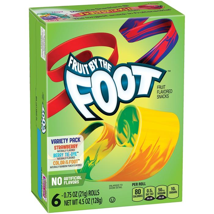 Fruit By The Foot, Variety Pack (Strawberry, Colour by the Foot, Berry Tie Dye), 128g, [HFX]