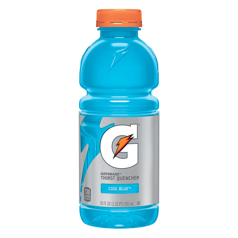 Limit 4 per customer: Gatorade, Cool Blue, 591ml