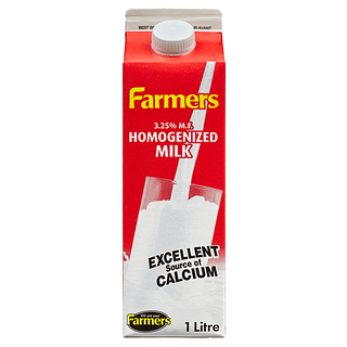 Farmers Milk, Homogenized (3.25%), 1L