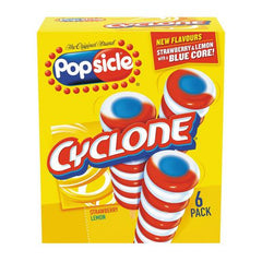 Cyclone Popsicles, 6 pack
