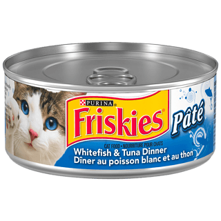 Purina Friskies Pate Cat Food, White Fish and Tuna Dinner