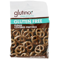 Glutino, Gluten Free Fudge Covered Pretzels,156g, [HFX]