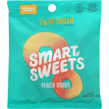 Smart Sweets, Peach Rings, 50g