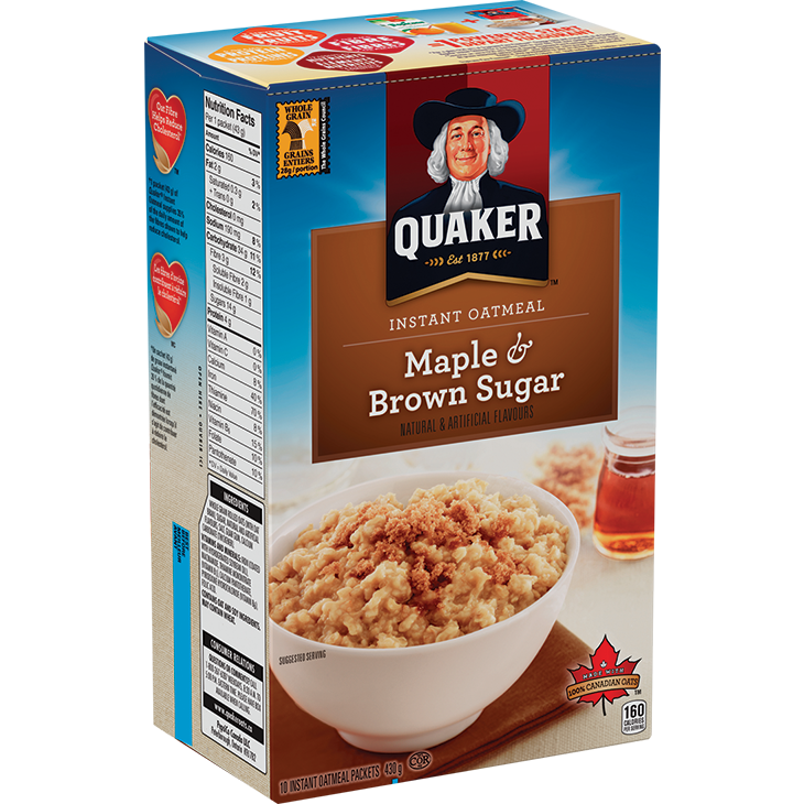 Quaker Instant Oatmeal, Maple & Brown Sugar