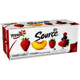Yoplait Source Yogurt, 16 Pack (4x Strawberry, 4x Raspberry, 4x Peach, 4x Fieldberry)