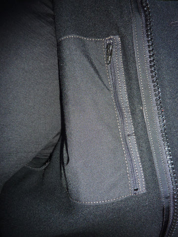 WeatherWool All Around Jacket in Solid Black Color Detail of Inside Pocket