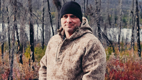 WeatherWool Anorak in Lynx Pattern worn on the History Channel's survival-endurance series ALONE by contestant Brady Nicholls