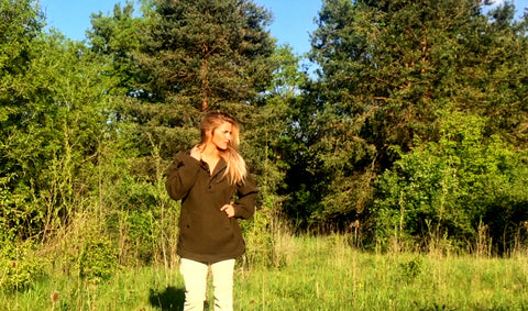WeatherWool Al's Anorak worn by Melissa Miller (Melissa Backwoods), who is part of our Women's Design Group