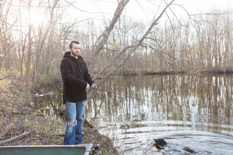 WeatherWool Advisor Fisher Neal in Black Anorak at The Swamp