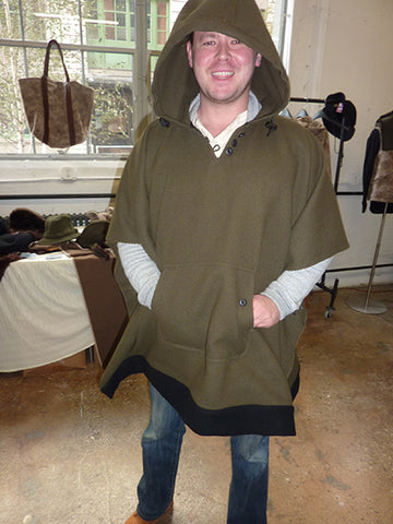 WeatherWool Poncho worn by our friend Joe Carpenter in Brooklyn