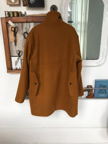 Prototype of the WeatherWool North Maine Double Jacket, made in fine Melton, but not yet far enough along in development to use WeatherWool FullWeight Fabric