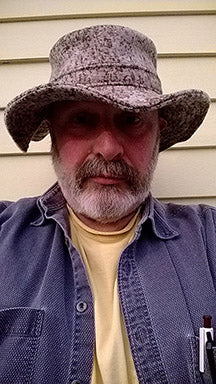 WeatherWool Founder Ralph in a Big Brim Boonie Prototype Hat
