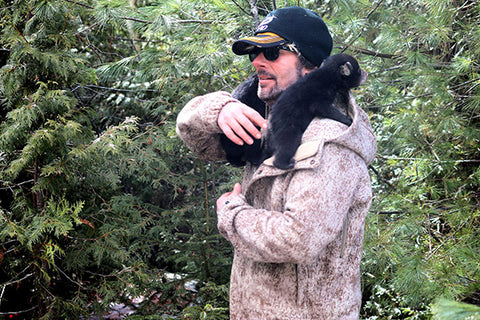 WeatherWool SkiJac Blaine Anthony Nature Productions Black Bear Cubs Bear Research Maine