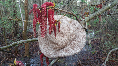 WeatherWool Big Brim Boonie Hat in Lynx Pattern and Catkins