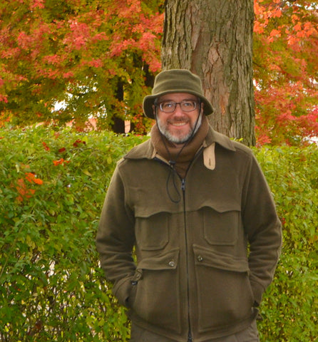 WeatherWool Advisor Randy Dewing All-Around Jacket in Solid Drab Color, Neck Gaiter and Boonie Hat