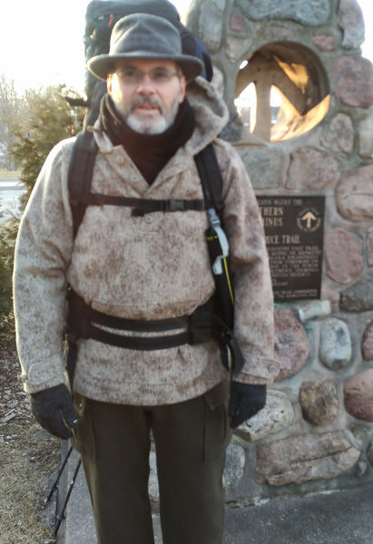 WeatherWool Anorak, Pants and Neck Gaiter for long distance hiking / trekking in Canada