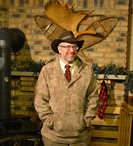 WeatherWool Advisor Randy Dewing in Lynx Pattern Anorak and Tie