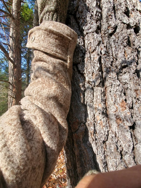 WeatherWool Advisor David Alexander is a professional Naturalist who provided us with several photos comparing Lynx Pattern to the bark of several different types of trees, including this Hemlock