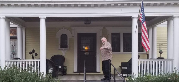 WeatherWool Open House is a regularly scheduled event. That's Ralph on the porch