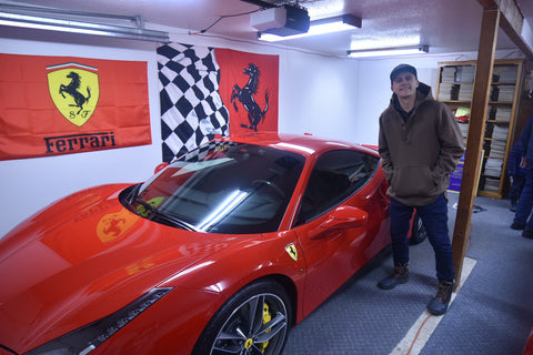 WeatherWool Anorak pairs well with a Ferrari