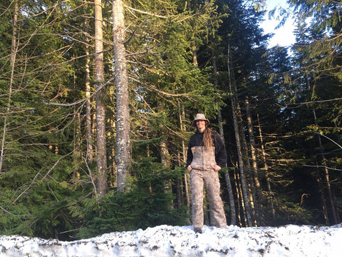 WeatherWool Advisor Lisa Porter on Mount Hood in Oregon
