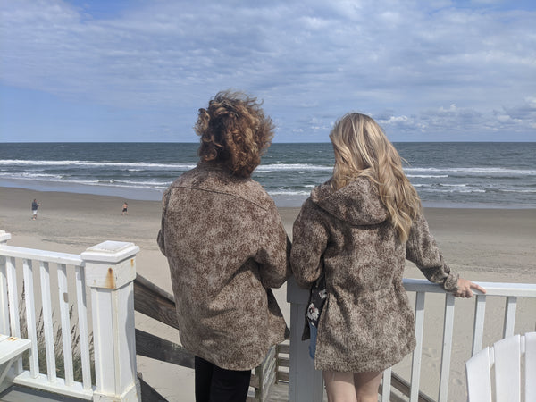 WeatherWool Lynx Pattern (ShirtJac and Anorak) on the Beach in Corolla (Outer Banks) North Carolina