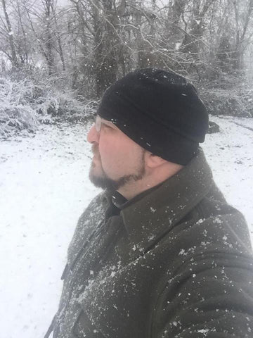 WeatherWool Advisor William Myers is Owner and Instructor at Mantis Outdoors.  Here William wears the WeatherWool All Around Jacket in Solid Drab Color