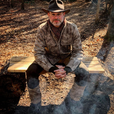 """Outdoor Professional Matt Mercer, an instructor with Dave Canterbury's Pathfinder School, """"wholeheartedly"""" recommends WeatherWool"""