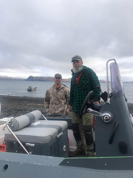 Multiple outdoor professionals involved with History Channel's hit series MOUNTAIN MEN, including Mike Horstman of Kodiak Island, Alaska, choose WeatherWool. The gent wearing the Anorak in this photo is a WarriorWool recipient who coincidentally is a friend of Horstman's!