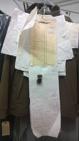 Paperwork needed to make the WeatherWool Mouton Jacket