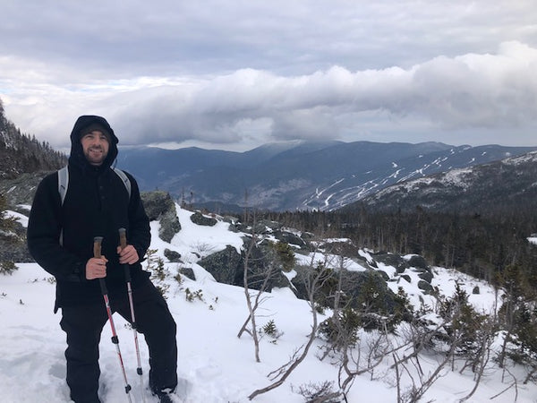 WeatherWool Anorak on Mount Washington, New Hampshire, January 2020. MANY THANKS to Rob Mulloy for the photo and permission to use it.