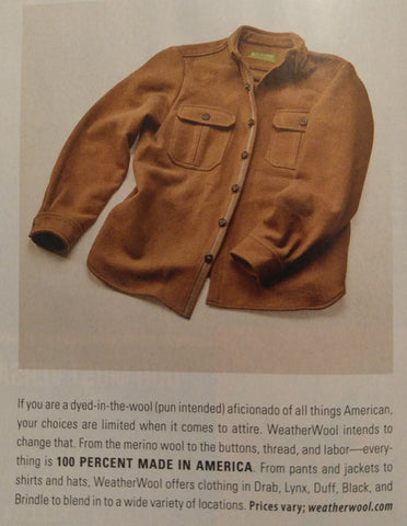 WeatherWool featured in Petersen's Hunting Magazine