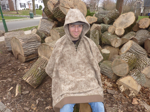 WeatherWool Poncho has an optional inside handwarmer pouch