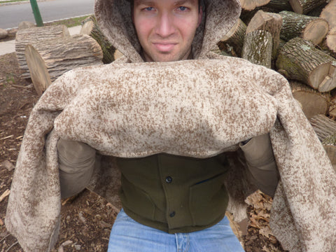 WeatherWool Poncho optional inside pouch, inside look