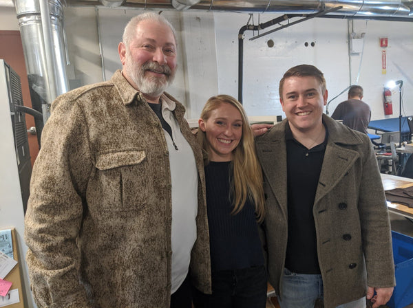 WeatherWool Found Ralph DiMeo, at left, with Kady Gray and Alex Tschopp, owners of Tailored Industry